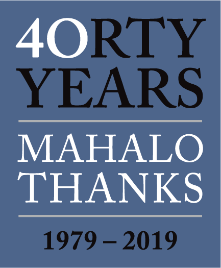 40orty Years Mahalo Thanks 1979-2019